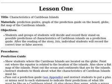 Characteristics of Caribbean Islands Lesson Plan