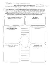 direct and indirect characterization worksheet - Termolak