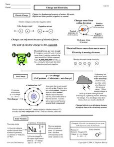 4th grade science worksheets on electricity