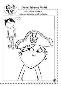 Charlie's Extremely Silly Hat Worksheet