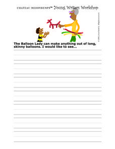 Chateau Meddybemps Young Writers Workshop Worksheet