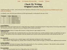 Check My Writing:Original Lesson Plan Lesson Plan