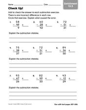 Check Up! Worksheet