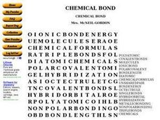 Chemical Bond Word Search Worksheet