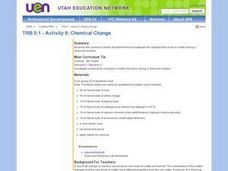 Chemical Change Lesson Plan