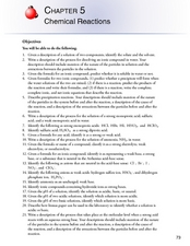 Chemical Reactions Worksheet