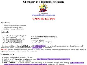 Chemistry in a Bag Demonstration Lesson Plan
