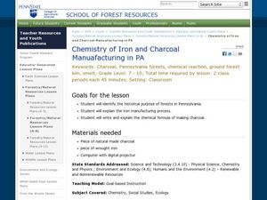 Chemistry of Iron and Charcoal Manufacturing in PA Lesson Plan