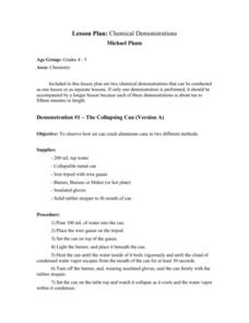 Chemistry: The Collapsing Can Lesson Plan