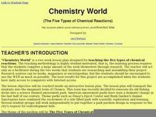 Chemistry World The Five Types of Chemical Reactions Lesson Plan
