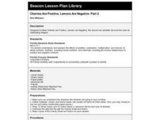 Cherries Are Positive, Lemons Are Negative- Part 2 Lesson Plan
