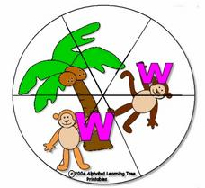 ChickaBoom ABC Circle Puzzle Worksheet