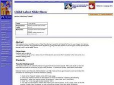 Child Labor Slide Show Lesson Plan