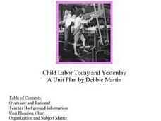 Child Labor Today and Yesterday Lesson Plan