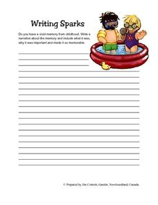 Childhood Narrative Memory Writing Prompt Lesson Plan