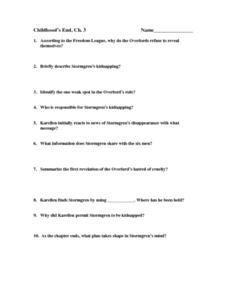 Childhood's End, Ch. 3 Worksheet