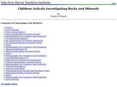 Children Actively Investigating Rocks and Minerals Lesson Plan