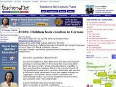 Children Book Creation in German Lesson Plan