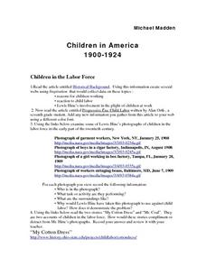 Children in the Labor Force Lesson Plan