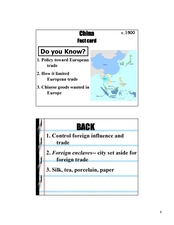 China Fact Card Lesson Plan