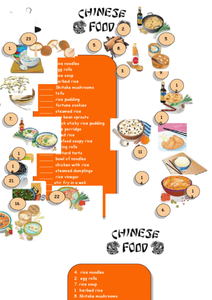 Chinese Food Worksheet