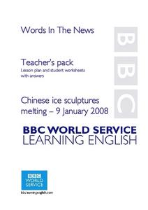 Chinese Ice Sculptures Melting Lesson Plan