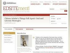 Chinua Achebe's Things Fall Apart: Oral and Literary Strategies Lesson Plan