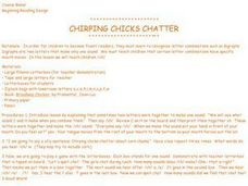 Chirping Chicks Chatter Lesson Plan