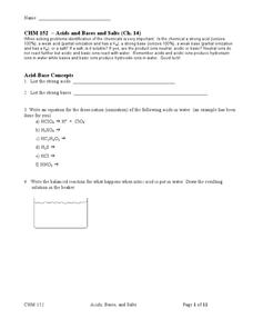chm 152 acids bases and salts chptr 14 10th 12th grade worksheet lesson planet. Black Bedroom Furniture Sets. Home Design Ideas