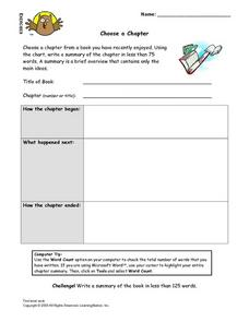 Choose a Chapter Lesson Plan