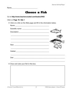 Choose a Fish Worksheet