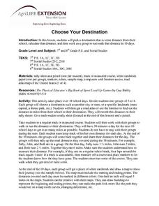 Choose Your Destination Lesson Plan