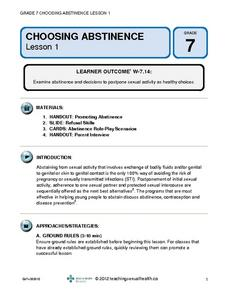 Choosing Abstinence (Lesson 1) Lesson Plan