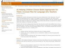 Choosing Appropriate Books Lesson Plan