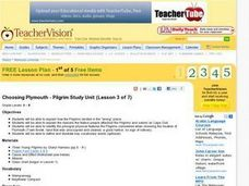Choosing Plymouth - Pilgrim Study Unit Lesson Plan