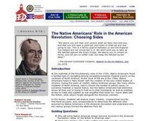 Choosing Sides: The Native Americans' Role in the American Revolution Lesson Plan
