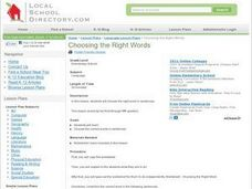 Choosing the Rights Words Lesson Plan