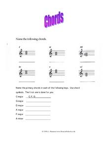 Chords Worksheet
