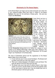 Christianity in the Roman Empire Worksheet