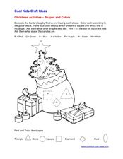 Christmas Activities: Shapes and Colors Worksheet