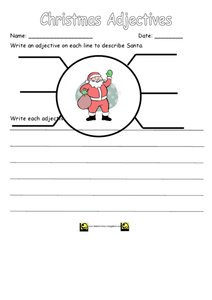 Christmas Adjectives 2 Worksheet