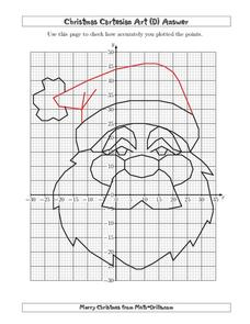 christmas cartesian art santa 5th 8th grade worksheet lesson planet. Black Bedroom Furniture Sets. Home Design Ideas