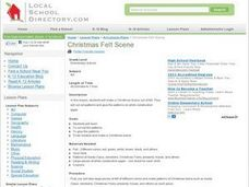 Christmas Felt Scene Lesson Plan