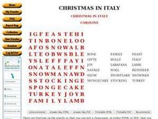 Christmas In Italy Worksheet