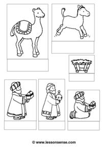 Christmas Nativity Scene Worksheet