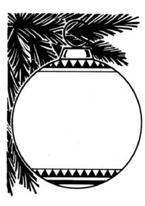 Christmas Ornament Drawing Worksheet