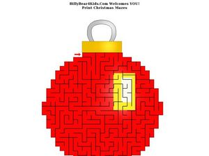 Christmas Ornament Maze Worksheet