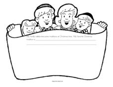 Christmas Story Starter Worksheet