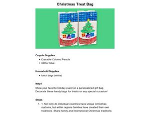 Christmas Treat Bag Lesson Plan