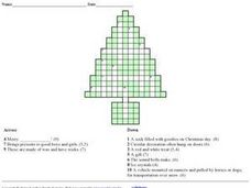 Christmas Tree Crossword Worksheet